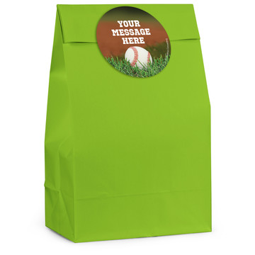 Baseball Personalized Favor Bag (12 Pack)