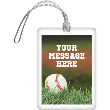 Baseball Personalized Luggage Tag (Each)