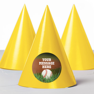 Baseball Personalized Party Hats (8 Count)