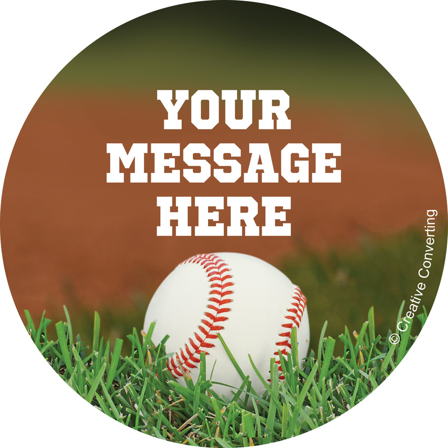 View larger image of Baseball Personalized Stickers (Sheet of 12)