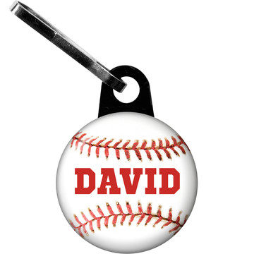 Baseball Personalized Zipper Pull (Each)