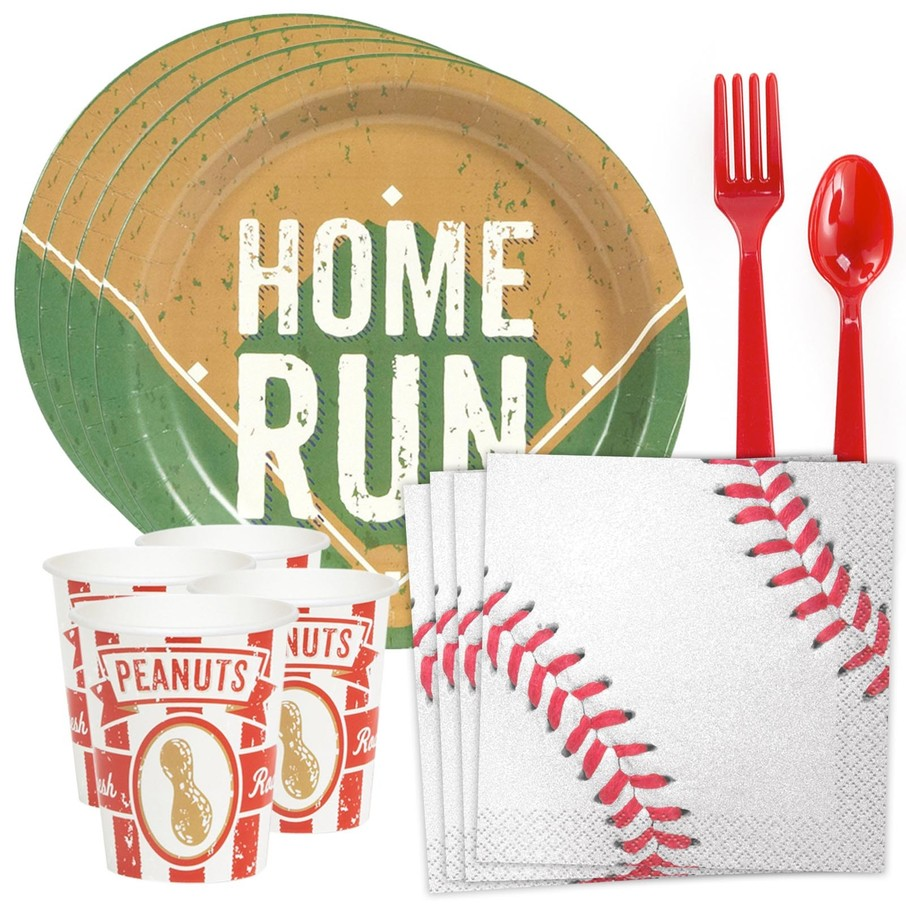 View larger image of Baseball Standard Tableware Kit (Serves 8)