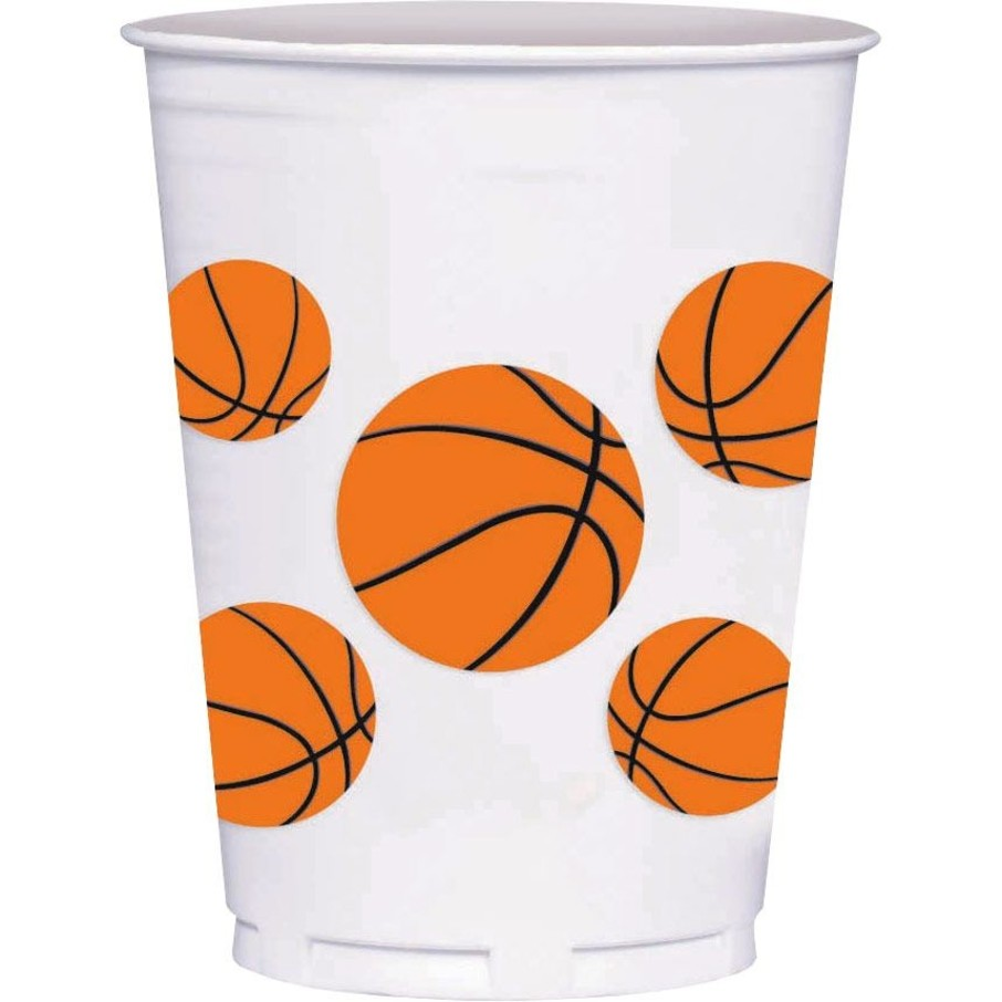 View larger image of Basketball 14oz Cups (8 Count)