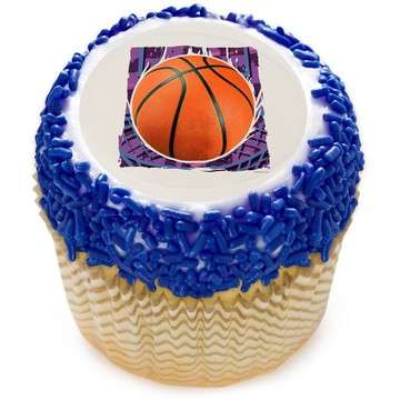 "Basketball 2"" Edible Cupcake Topper (12 Images)"