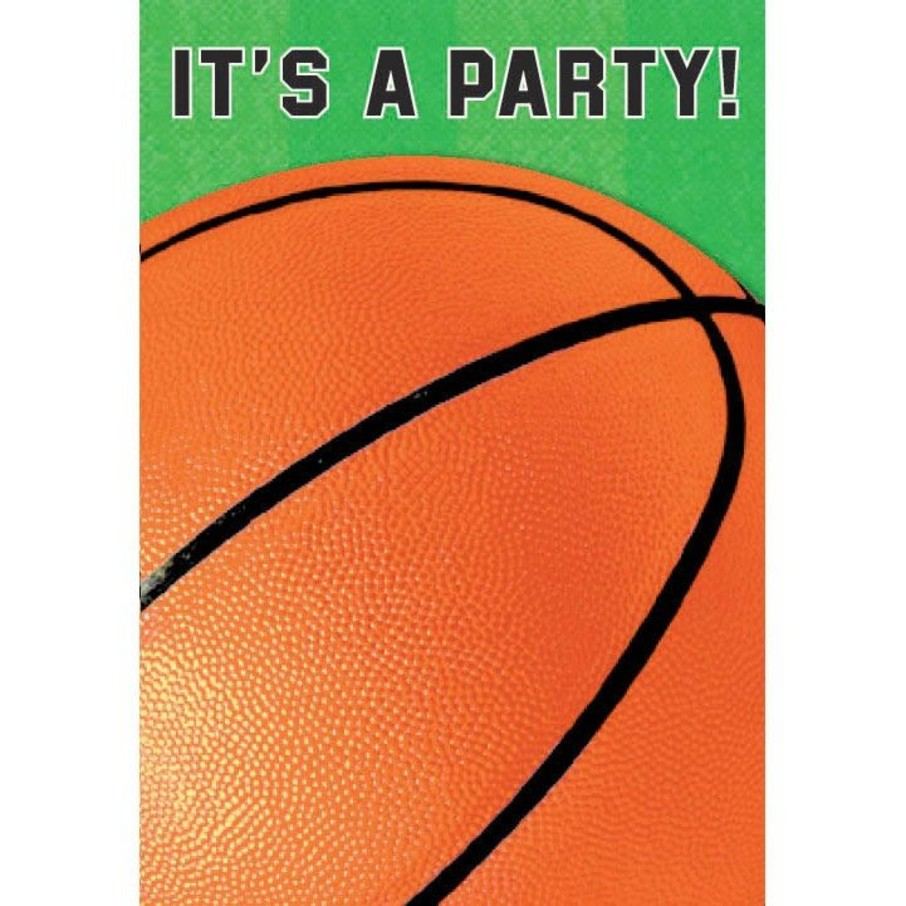 View larger image of Basketball Folded Invitation (6 Pack)