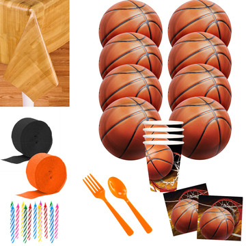 Basketball Party Deluxe Tableware Kit (Serves 8)