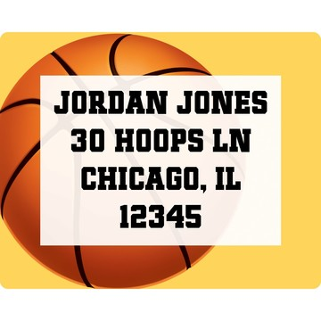 Basketball Party Personalized Address Label