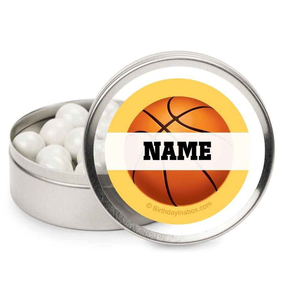 View larger image of Basketball Party Personalized Candy Tins (12 Pack)