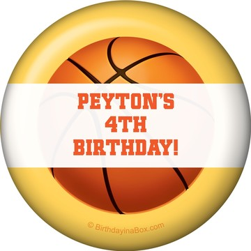 Basketball Party Personalized Magnet (each)