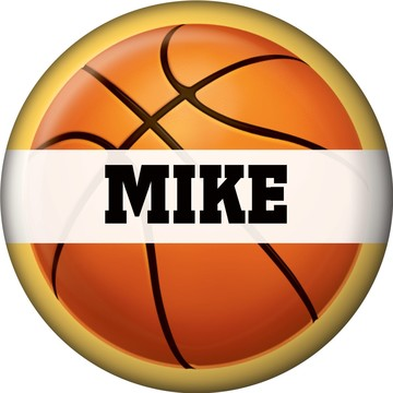 Basketball Party Personalized Mini Magnet (each)