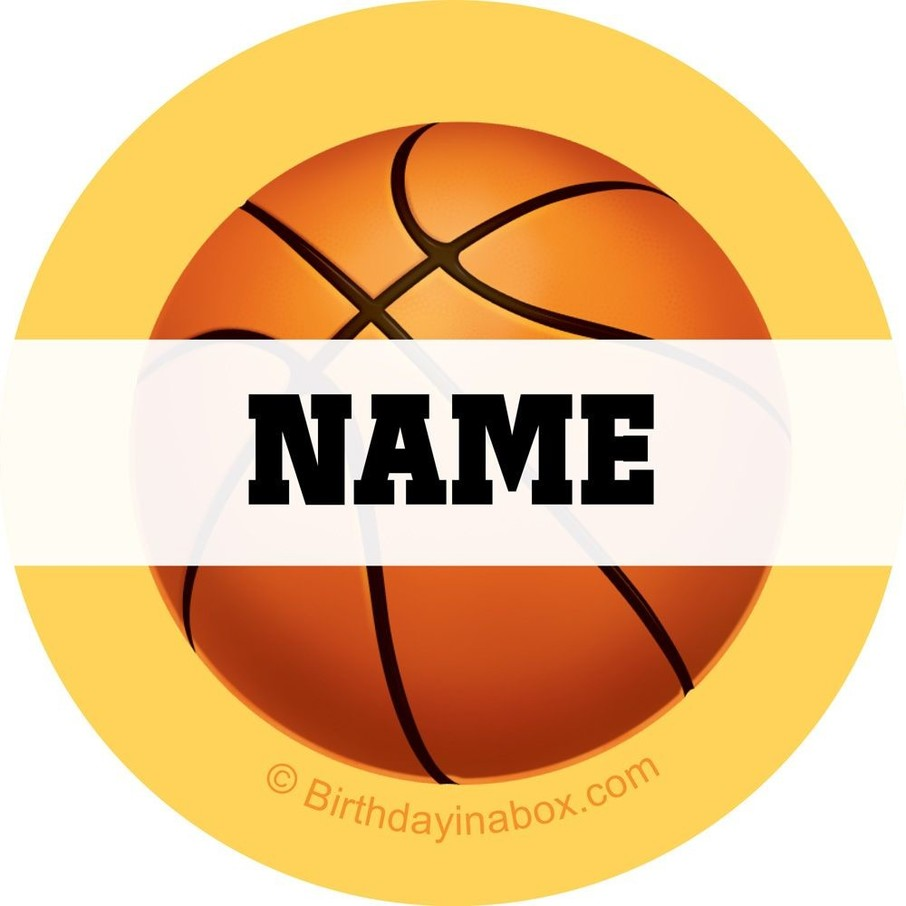 View larger image of Basketball Party Personalized Mini Stickers (Sheet of 24)
