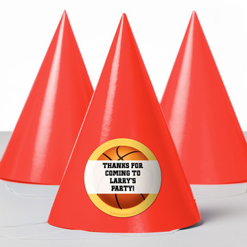 Basketball Party Personalized Party Hats (8 Count)
