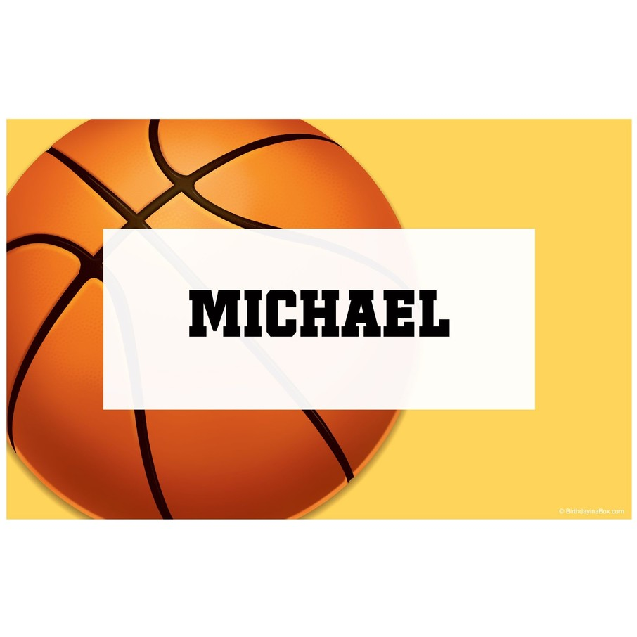View larger image of Basketball Party Personalized Placemat (each)