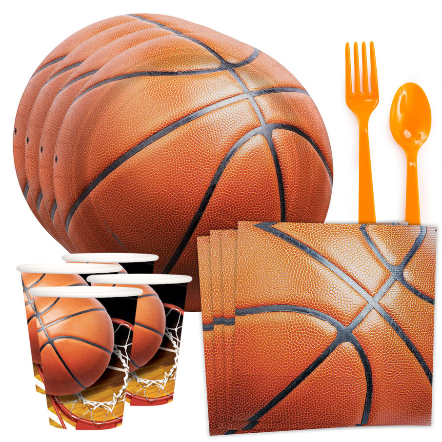 View larger image of Basketball Party Standard Tableware Kit (Serves 8)