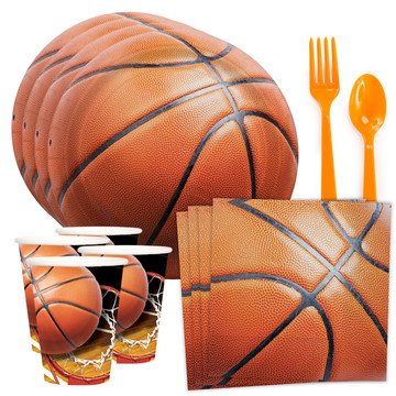 Basketball Party Standard Tableware Kit (Serves 8)