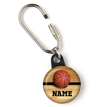 "Basketball Personalized 1"" Carabiner (Each)"