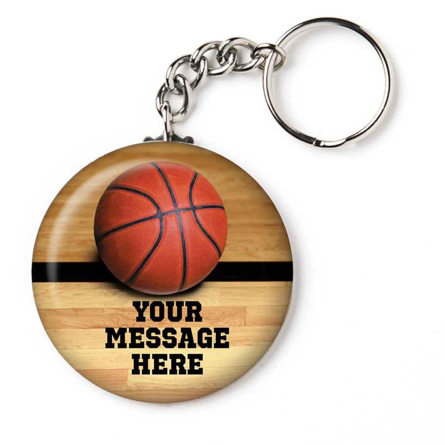 "View larger image of Basketball Personalized 2.25"" Key Chain (Each)"