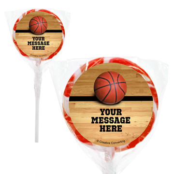 """Basketball Personalized 2"""" Lollipops (20 Pack)"""