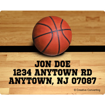 Basketball Personalized Address Labels (Sheet of 15)