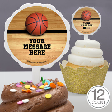 Basketball Personalized Cupcake Picks (12 Count)