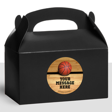 Basketball Personalized Treat Favor Boxes (12 Count)