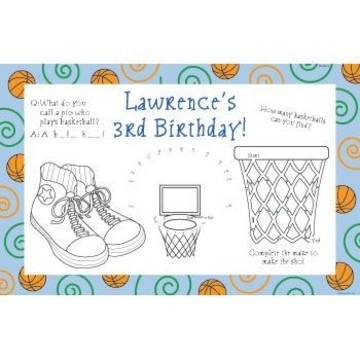 Basketball Star Personalized Activity Mats (8-pack)