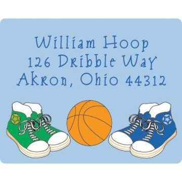 Basketball Star Personalized Address Labels (sheet of 15)