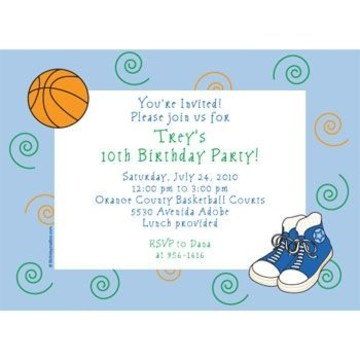 Basketball Star Personalized Invitation (each)