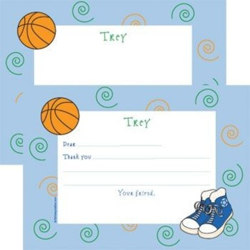 Basketball Star Personalized Thank You Note (each)