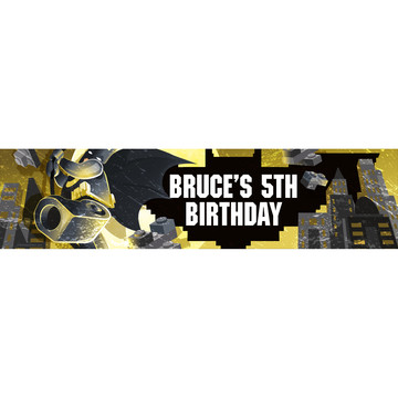 Bat Blocks Personalized Banner (Each)