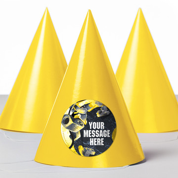 Bat Blocks Personalized Party Hats (8 Count)