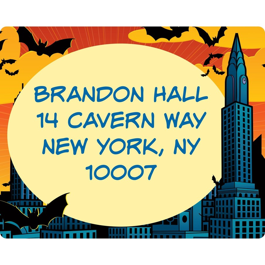 View larger image of Bat Personalized Address Labels (sheet of 15)