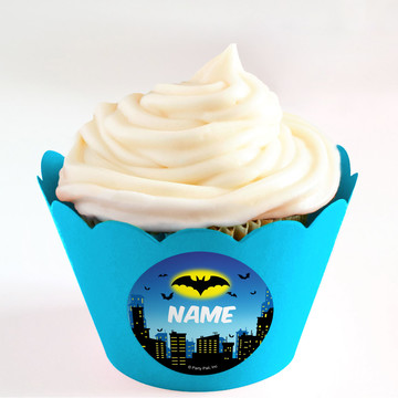 Bat Personalized Cupcake Wrappers (Set of 24)