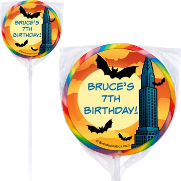 Bat Personalized Lollipops (pack of 12)