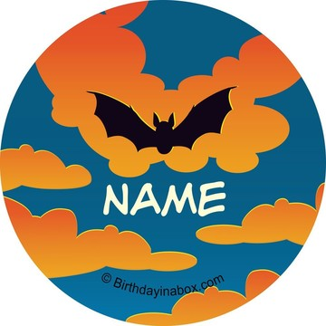 Bat Personalized Mini Stickers (Sheet of 24)