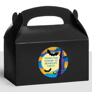 Bat Personalized Treat Favor Boxes (12 Count)