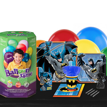 Batman 16 Guest Kit with Tableware and Helium Kit