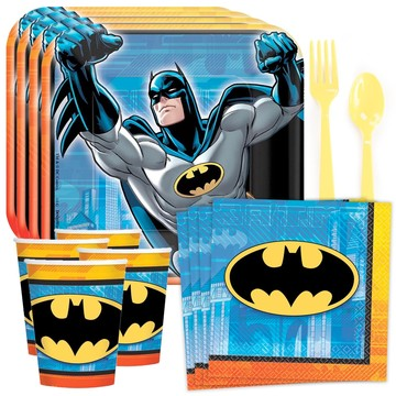 Batman Birthday Party Standard Tableware Kit (Serves 8)