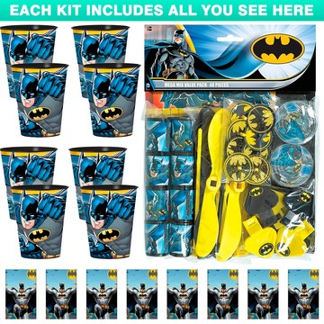Batman Favor Kit (For 8 Guests)