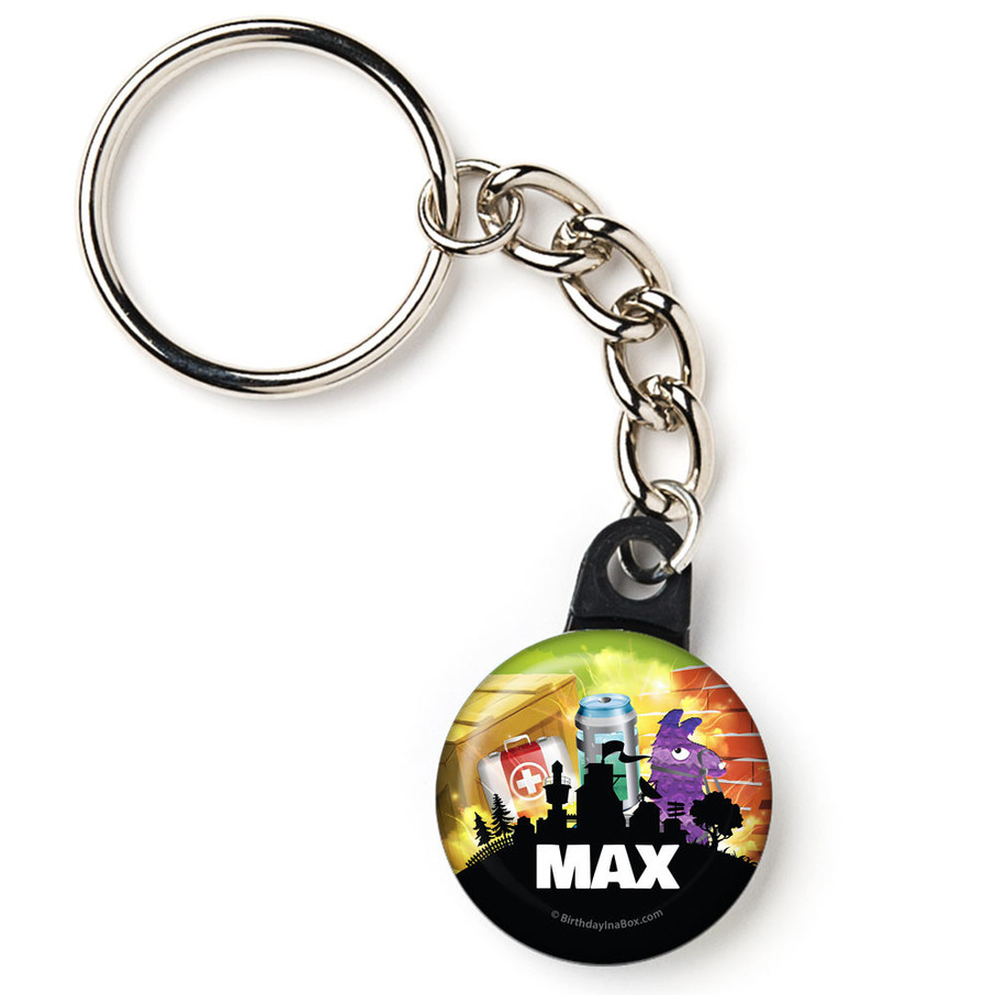 "View larger image of Battle Game Personalized 1"" Mini Key Chain (Each)"