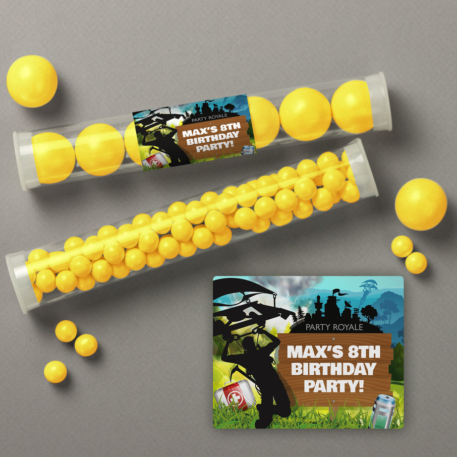 View larger image of Battle Game Personalized Candy Tubes (12 Count)