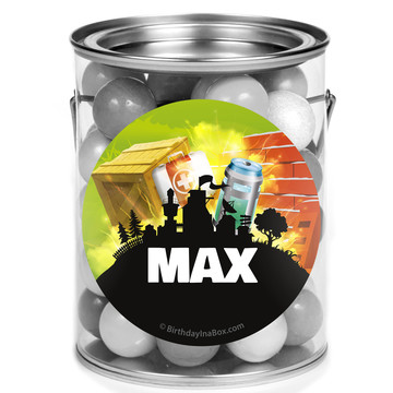 Battle Game Personalized Mini Paint Cans (12 Count)