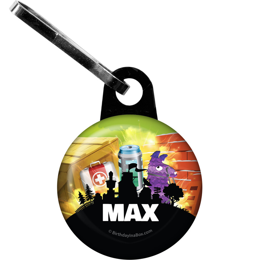 View larger image of Battle Game Personalized Zipper Pull (Each)