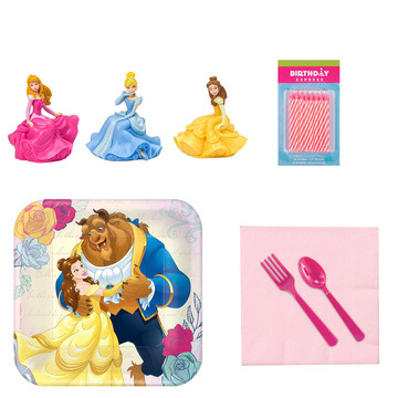 Beauty the Beast Tableware and Cake Topper Kit