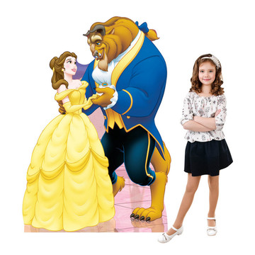 Belle And Beast (Beauty And The Beast) Cardboard Standup