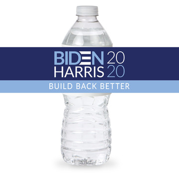 BIDEN HARRIS Build Back Better Bottle Label (Sheet of 4)