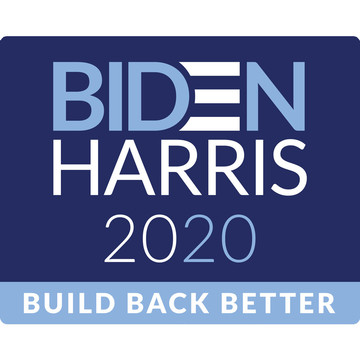 BIDEN HARRIS Build Back Better Rectangular Stickers (Sheet of 15)