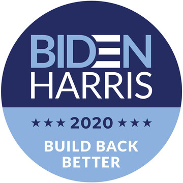 BIDEN HARRIS Build Back Better Stickers (Sheet of 12)