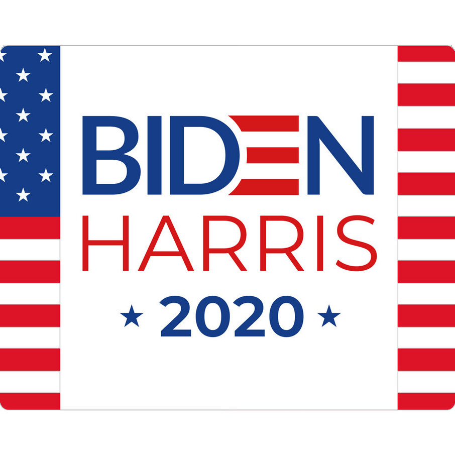 View larger image of BIDEN HARRIS Stars and Stripes Rectangular Stickers (Sheet of 15)