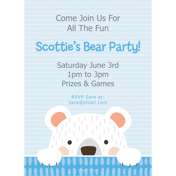 Birthday Bear Personalized Invitation (Each)